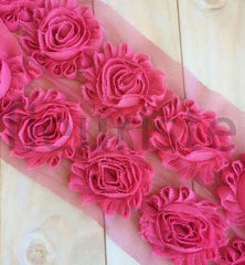 Solid Shabby Rose Trim-Rose Pink