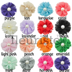 Pearl Ballerina Flowers 2.5 inch - Pick Your Color