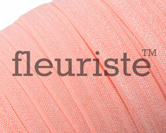 "Solid 5/8"" Foldover Elastic by the Yard-coral rose"