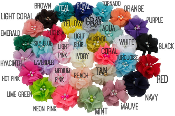 Chiffon Flower 2 inch - Pick Your Color