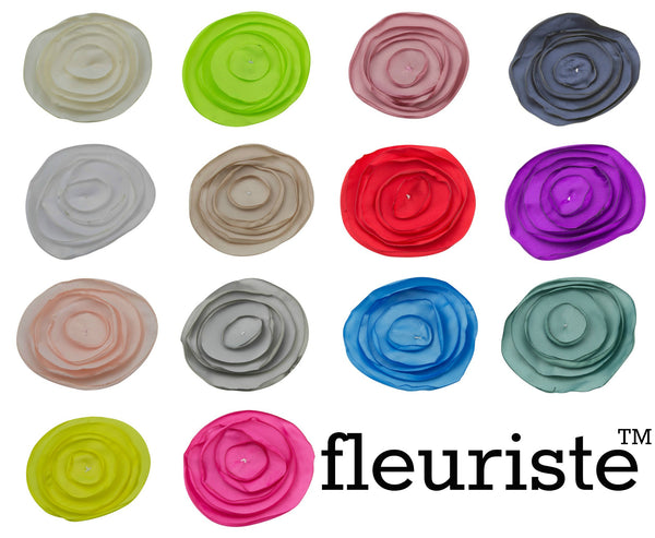 "3"" Burned Petal Flower - Pick Your Color"