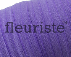 "Solid 5/8"" Foldover Elastic by the Yard-Delphinium"