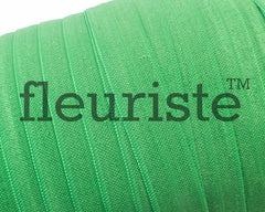 "Solid 5/8"" Foldover Elastic by the Yard-classical green"