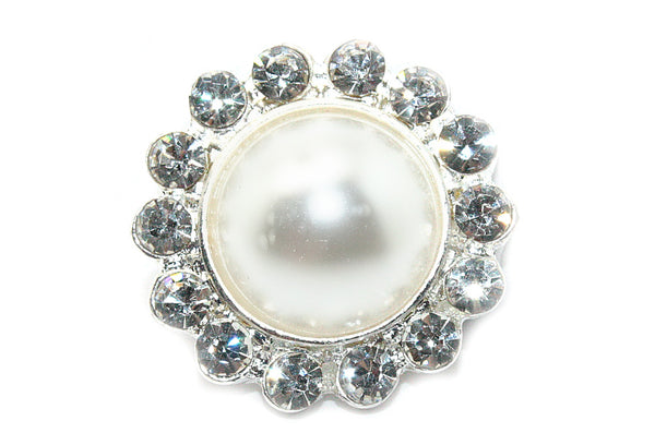 Pearl Flatback Metal Rhinestone 20mm- choose a color