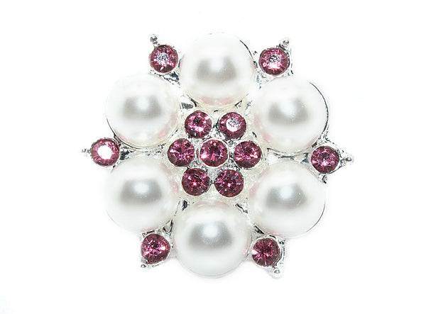 Pearl Rhinestones Buttons Flat Back- Choose Your Color