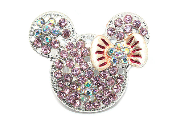 Mouse Head Rhinestone Button-22 mm
