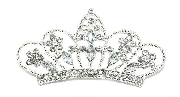 Rhinestone Crowns 56 by 30 MM- Choose Your Color