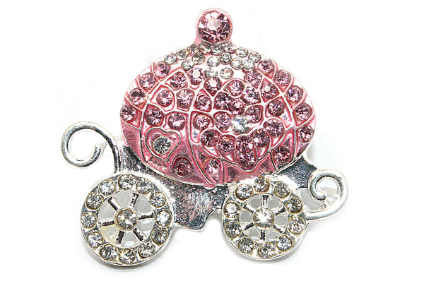 Princess Carriage Rhinestone Button-33 mm