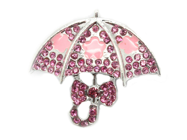 Umbrella Rhinestone Button Flatback