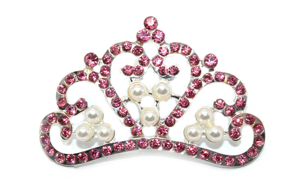 Rhinestone Crowns 55 by 36 MM- choose your color