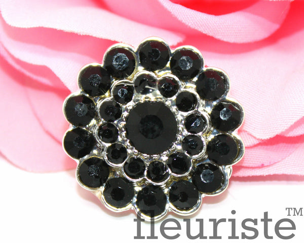 Rhinestones Buttons Flat Back