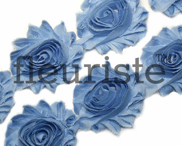 Solid Shabby Rose Trim-Blue