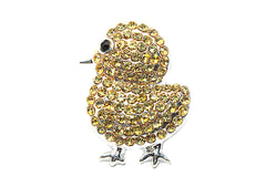 Easter Chick Rhinestone Button 23mm by 18 mm Slider- Choose Your Color