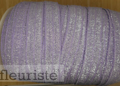 Foldover Elastic by the Yard- Shiny Lavender Elastic