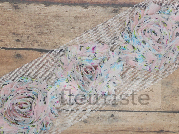 Patterned Shabby Trim by the Yard- Floral 147