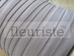 "Solid 5/8"" Foldover Elastic by the Yard- Dusty Lavender"