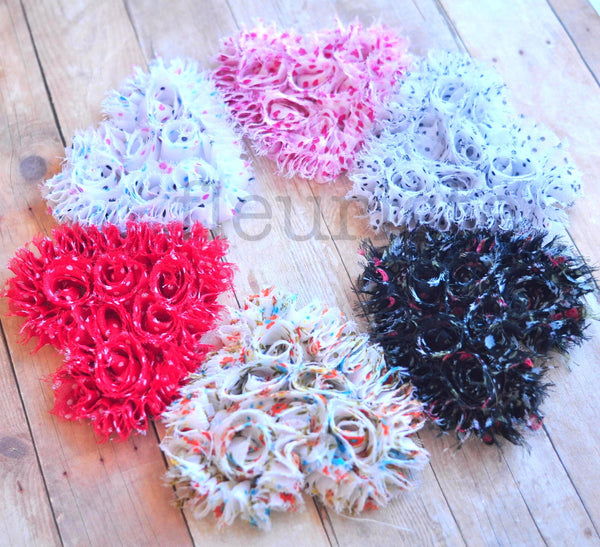 Fuzzy Vintage Heart Singles-Pick Your Pattern
