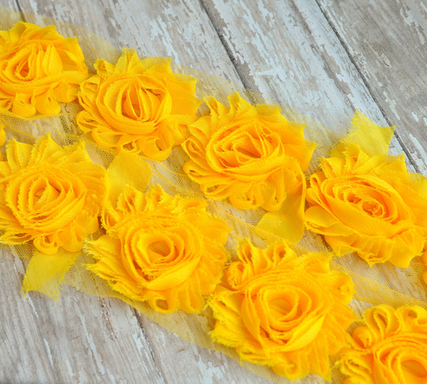 Solid Shabby Rose Trim-Sunny Yellow