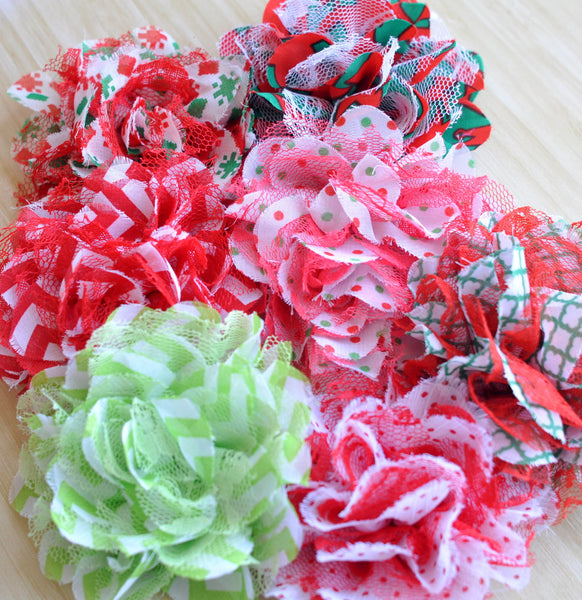 Christmas Shabby Shredded Lace-Pick Your Pattern