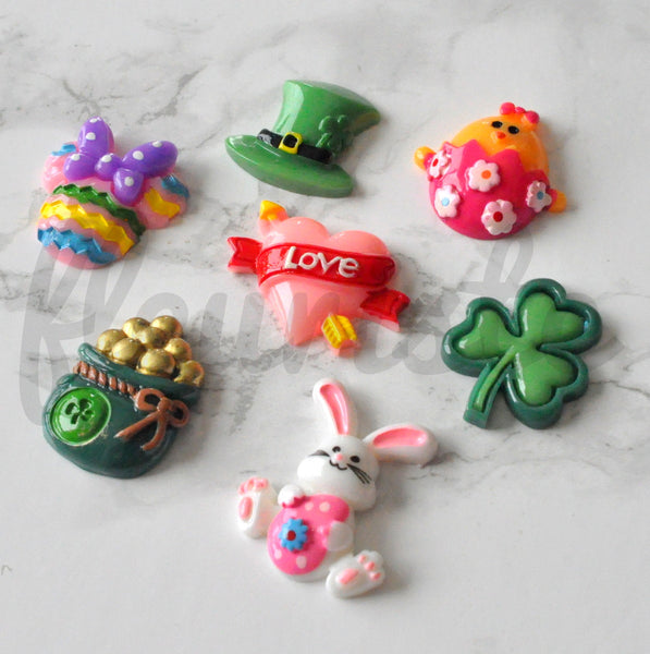 St Pattys & Easter Flat Back Resins-Pick Your Design