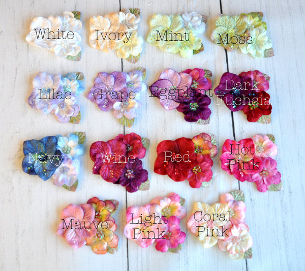 Grouped Velvet Flowers-Pick Your Color