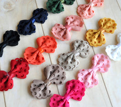 Mini Eyelet Bows-Pick Your Color
