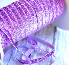Regular Glitter Elastics by the Yard-Lavender