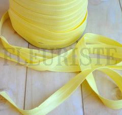 "Solid 5/8"" Foldover Elastic by the Yard-Pineapple"