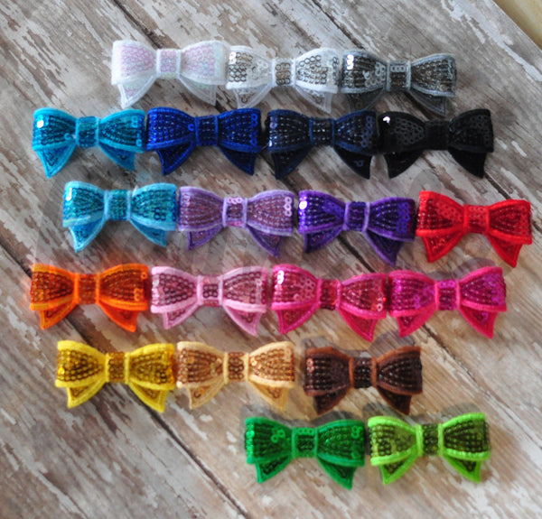 Mini Tuxedo Bows - Pick Your Color