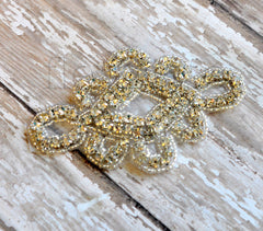 Beaded Bridal Applique-Single Applique-Roaring 20s Style