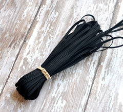 "1/8"" Skinny Elastic by the Yard-Black"