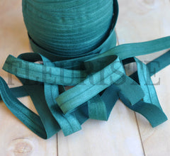 "Solid 5/8"" Foldover Elastic by the Yard-Spruce"
