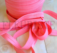 "Solid 5/8"" Foldover Elastic by the Yard-Watermelon"