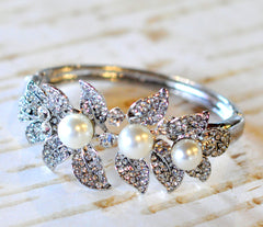 Bridal Bracelet - Ready to Wear - Pearls & Wisps Bracelet