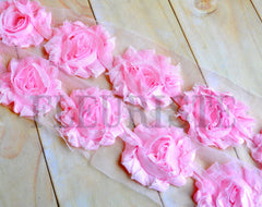 Solid Shabby Rose Trim-Ice Pink
