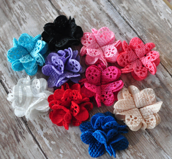 Petite Eyelet Flower - Pick Your Color