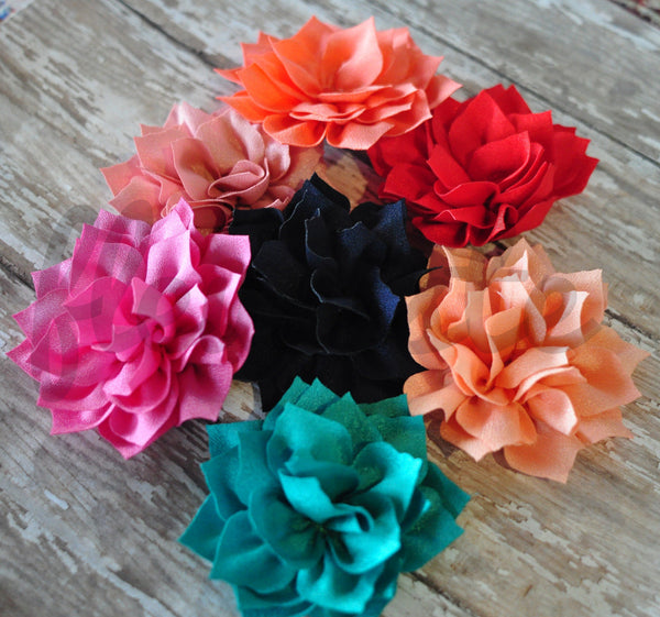 Kanzashi Lotus Flowers - Pick Your Color