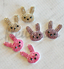 Jeweled Flatbacks - Easter Bunnies - Pick Your Color