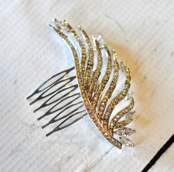 Bridal Comb - Ready to Wear - Feather Wisp