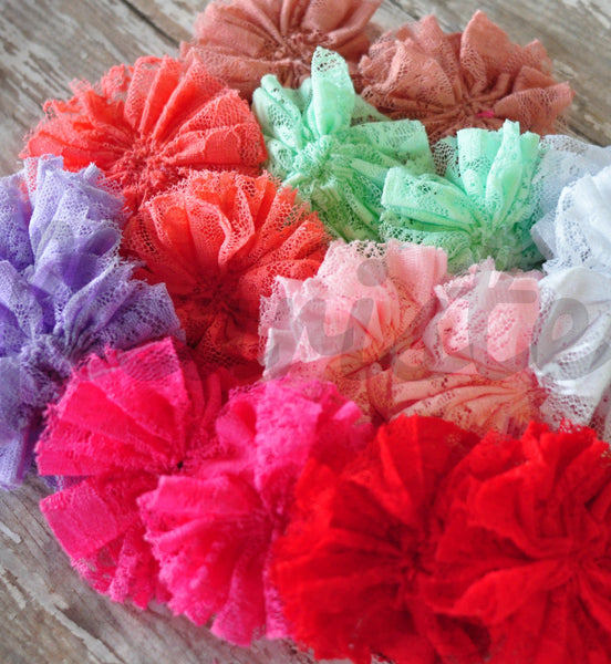 Unfinished Lace Ballerina Flowers-Pick Your Color
