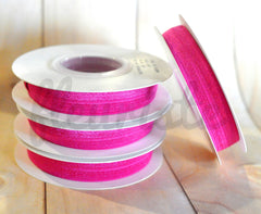 5 Yard Pre-Packaged Roll - Solid Fold Over Elastic - Dark Hot Pink