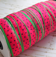 Patterned Foldover Elastic by the Yard-Pick Your Pattern - Watermelons