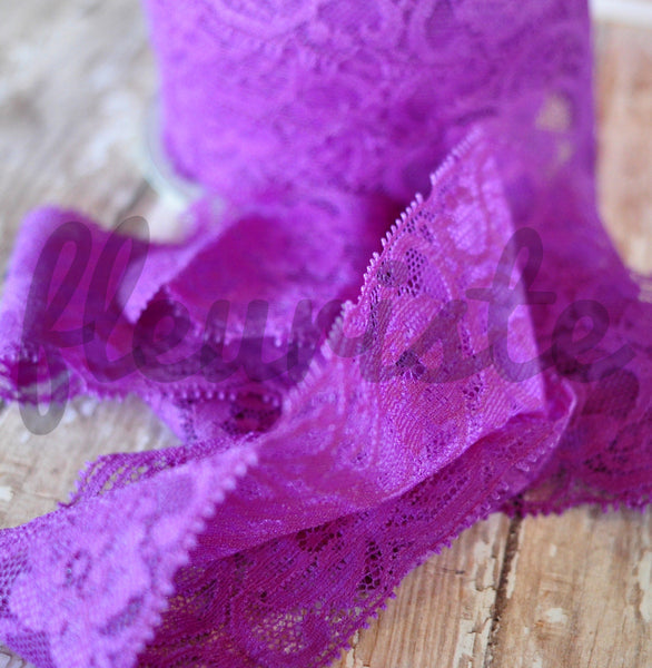 "2"" Lace Elastic by the Yard-Pick Your Color"