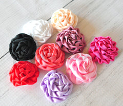 Mini Ruched Rosettes - Pick Your Color