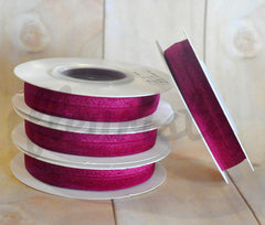 5 Yard Pre-Packaged Roll - Solid Fold Over Elastic - Crimson Wine
