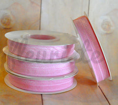 5 Yard Pre-Packaged Roll - Solid Fold Over Elastic - Ice Pink