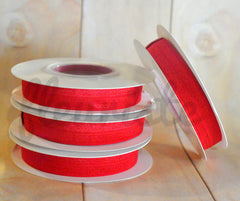5 Yard Pre-Packaged Roll - Solid Fold Over Elastic - Cherry Red