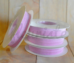 5 Yard Pre-Packaged Roll - Solid Fold Over Elastic - Powder Pink