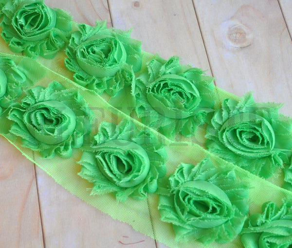 Solid Shabby Rose Trim-Dark Lime