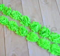 Petite Solid Shabby Rose Trim-Bright Lime *NEW SHADE LIGHTER*